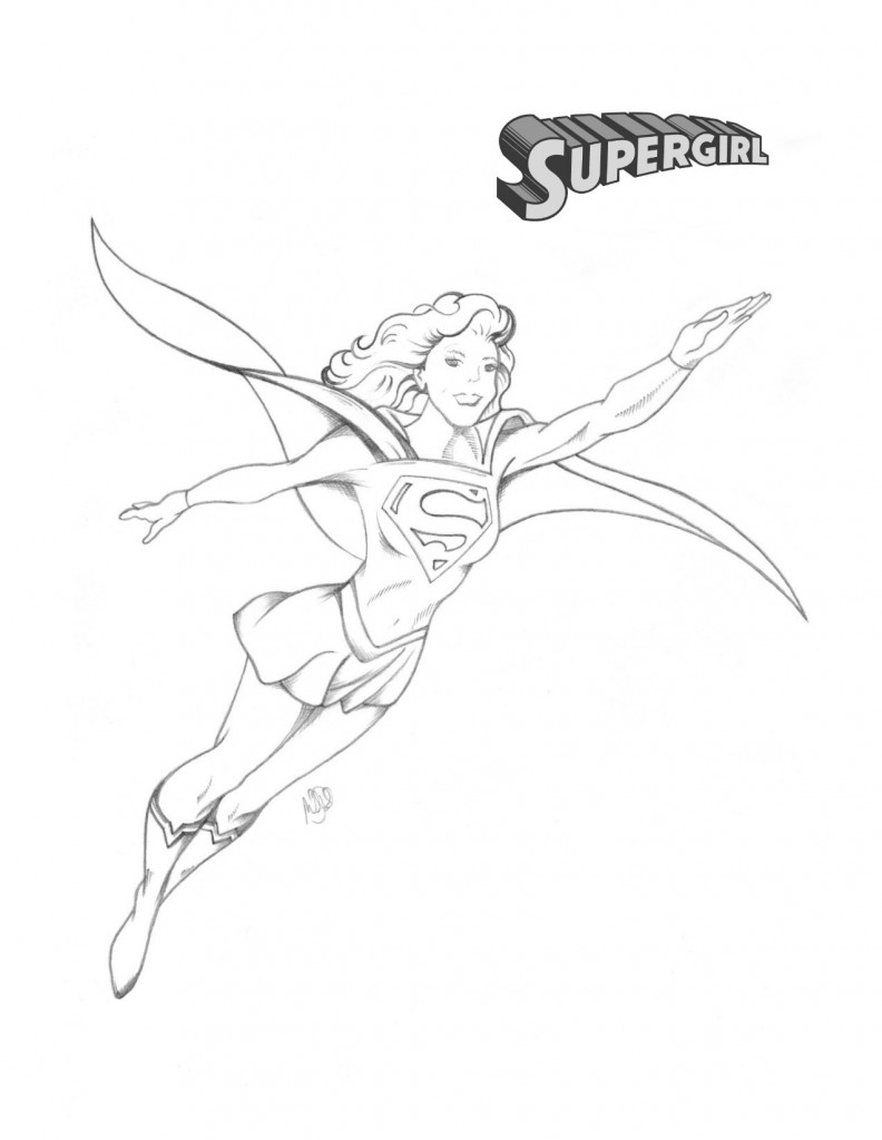 Supergirl Pencils © 2015 Michael Pohrer