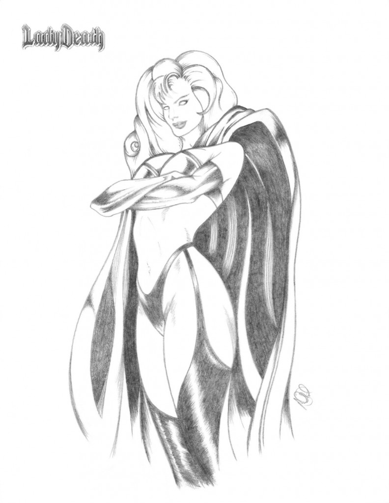Lady Death Pencils 2011 MJ NFP Cartoonist